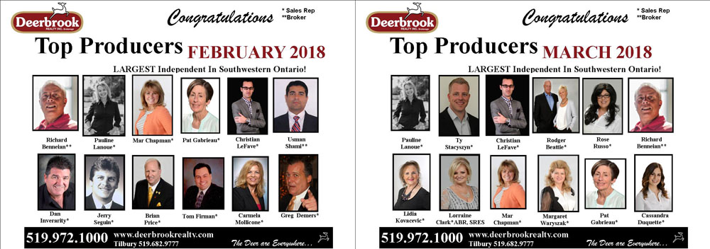 Proud to Be a Top Producer for February & March 2018