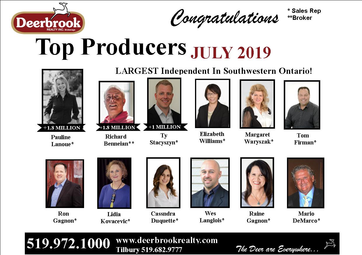 Top Producer for July 2019