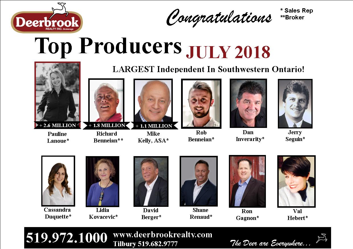 Thank You for Helping Me Become a Top 12 Producer for July 2018