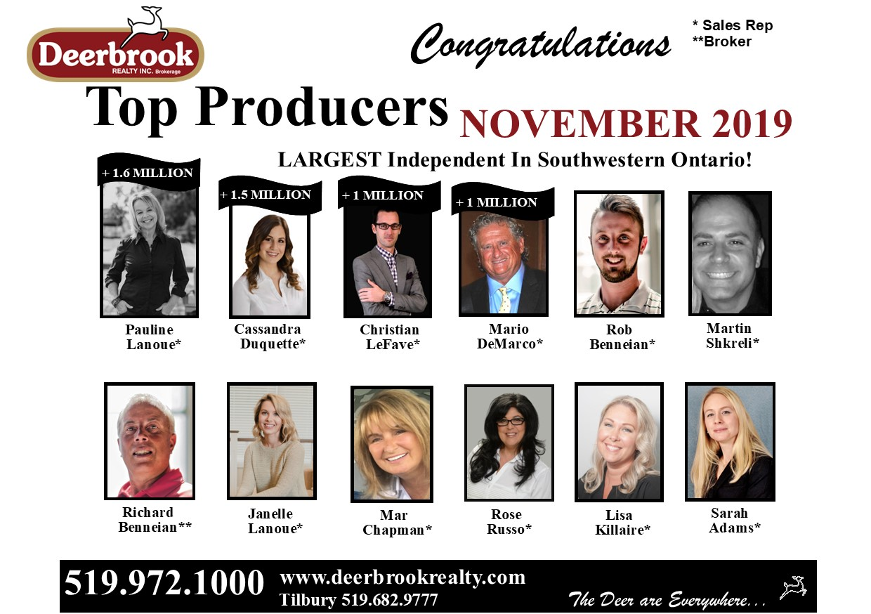 Top Producer for November 2019